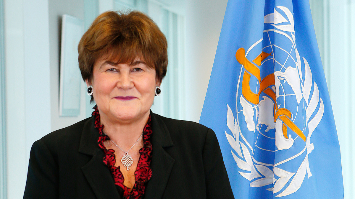 Official portrait of Zsuzsanna Jakab, Regional Director, World Health Organization Regional Office for Europe